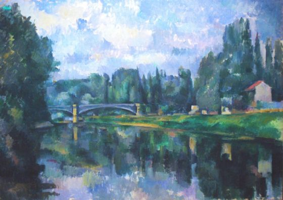 Cezanne, Paul: Bridge at Créteil. Fine Art Print/Poster. Sizes: A4/A3/A2/A1 (004237)
